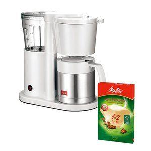 【ペーパーフィルターセット!】メリタ コーヒーメーカー オルフィ SKT52-3-W ホワイト [2〜5杯用][ペーパードリップ式][SKT523W](メール便不可)