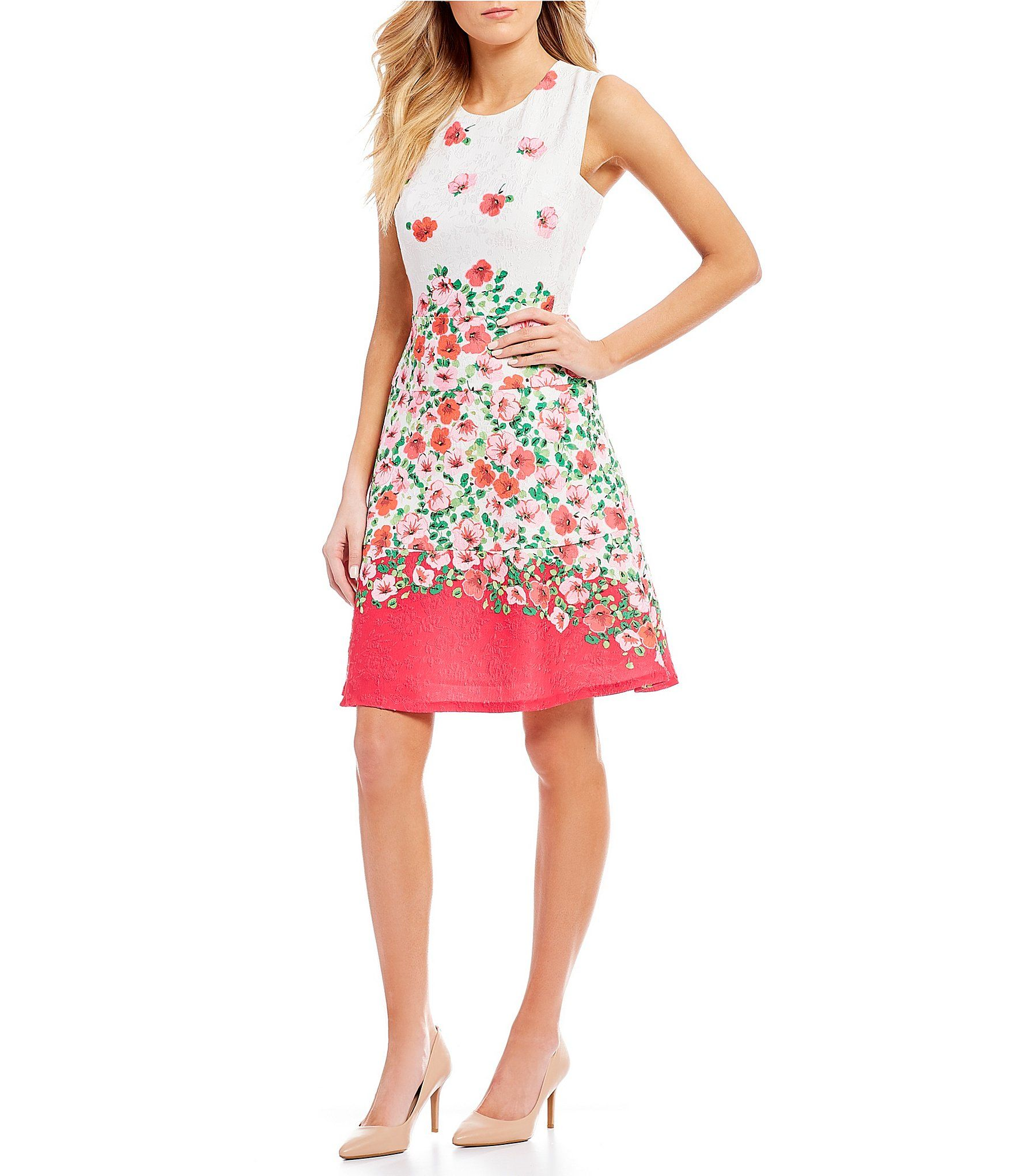 82153f0f5a2 Shop for KARL LAGERFELD PARIS Border Floral Printed Sleeveless Swing Dress  at Dillards.com. Visit Dillards.com to find clothing