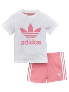 uk availability ca388 35023 adidas-originals-baby-girls-shorts-set