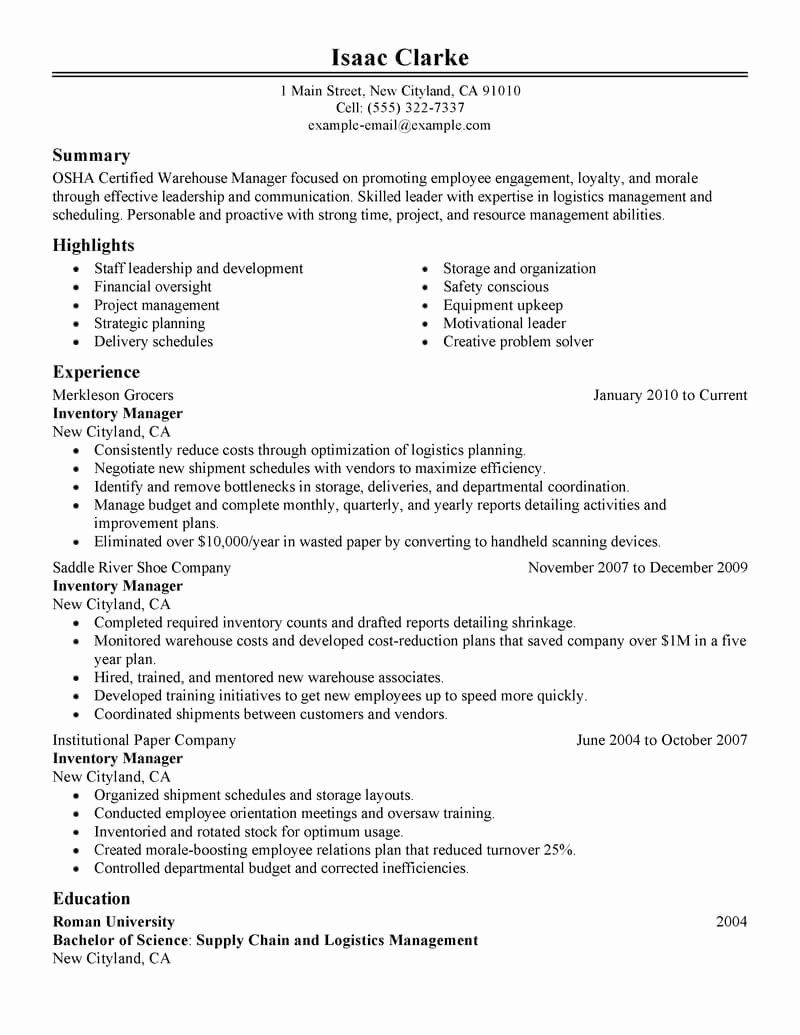 20 Stocker Job Description Resume in 2020 Resume