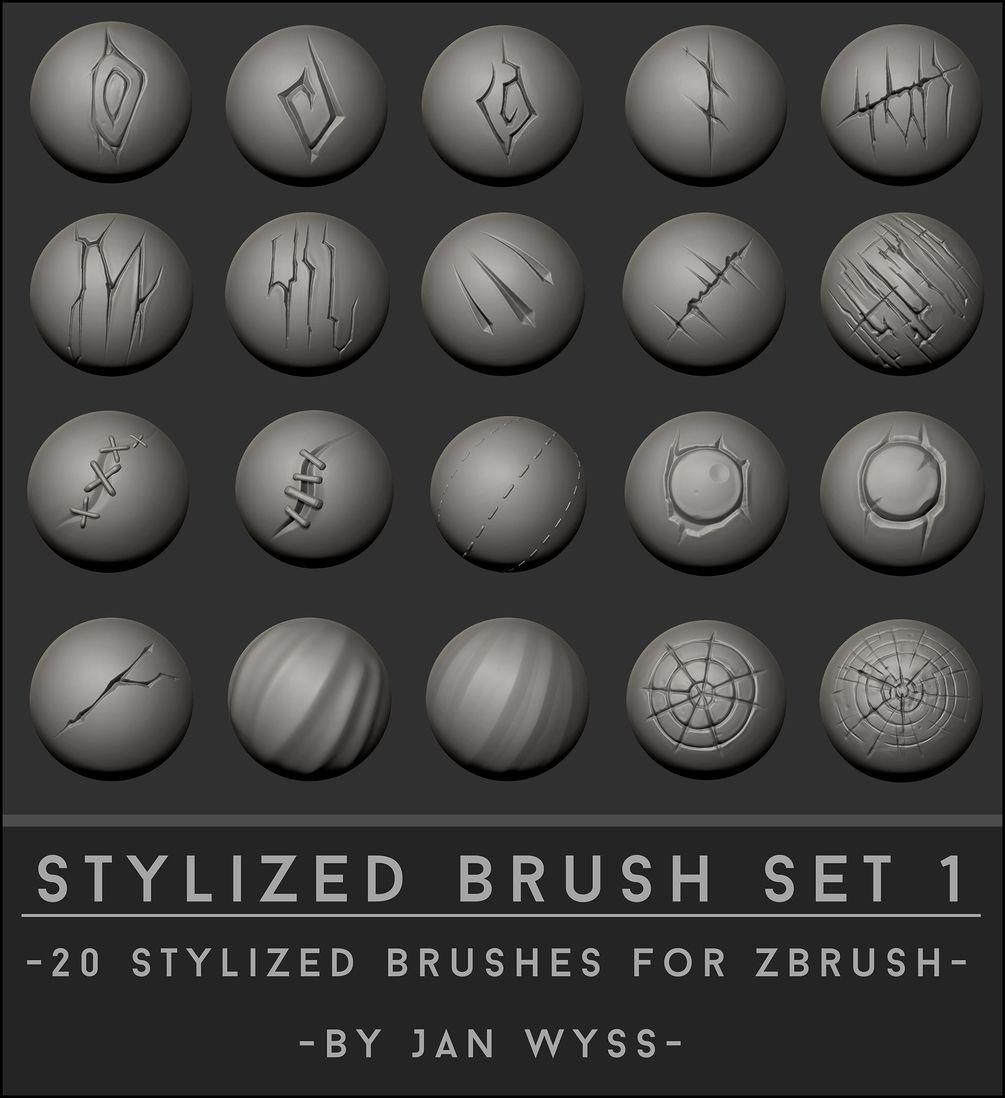 Stylized Brush Set 1   Game Art Resources in 2019   Zbrush