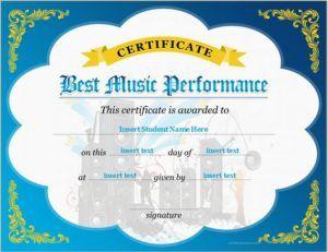 Best music performance certificate template download at http best music performance certificate template download at httpcertificatesinnbest award certificatescertificate templatesbest musicmicrosoft word yadclub Gallery