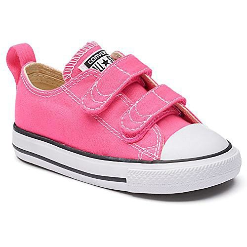 afd797939031 Converse Infant Toddler s Chuck Taylor All Star 2V Low Top Fashion Shoe  Pink Pow Natural White 6C