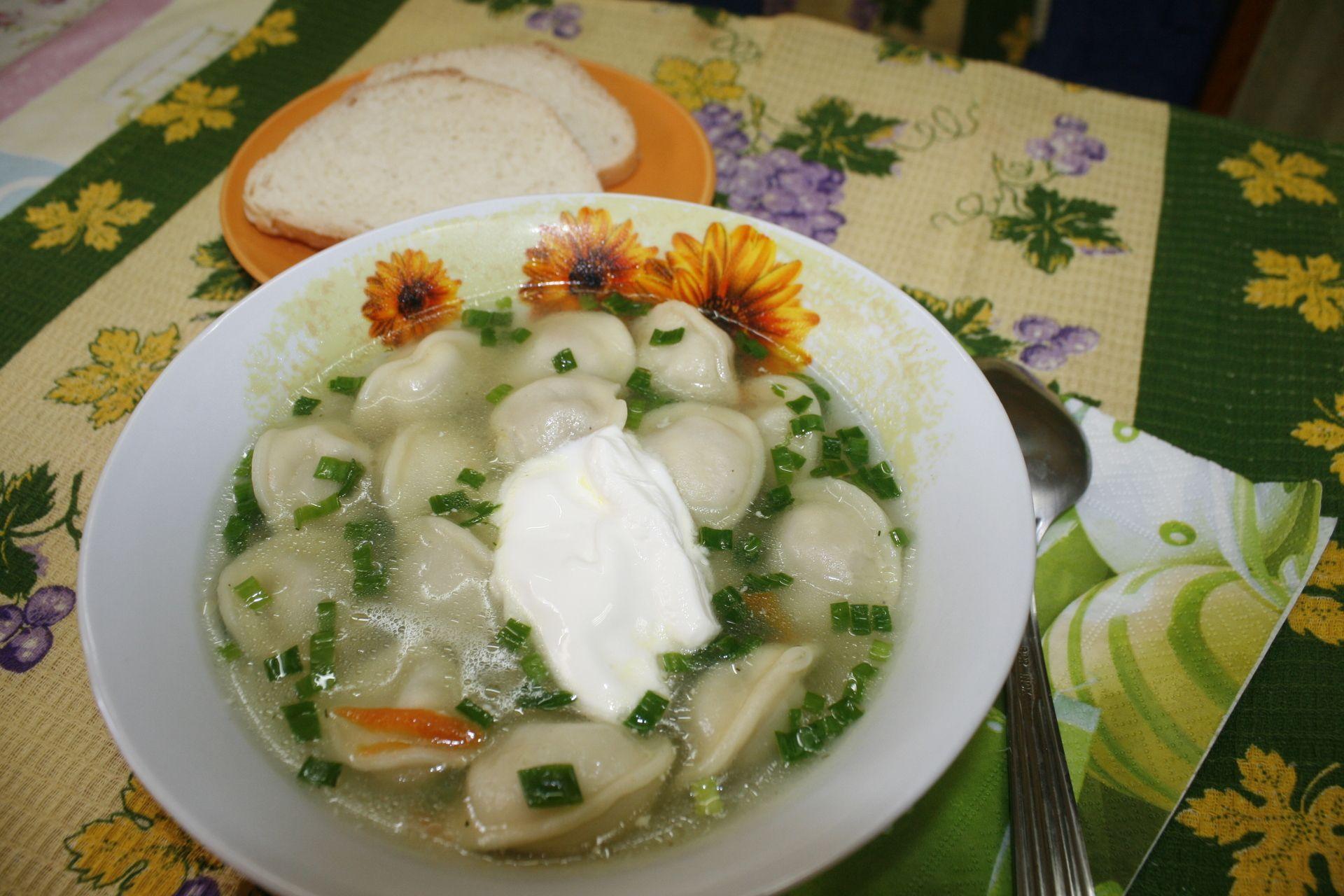Суп с пельменями в духовке | Суп, Мультиварка, Пельмени