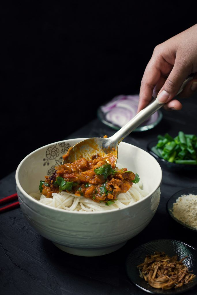 Mandalay Curry Noodles Recipe Curry Noodles Burmese Food