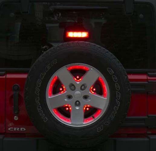Third Mid Brake Light Spare Tire Led For Jeep Wrangler Jk