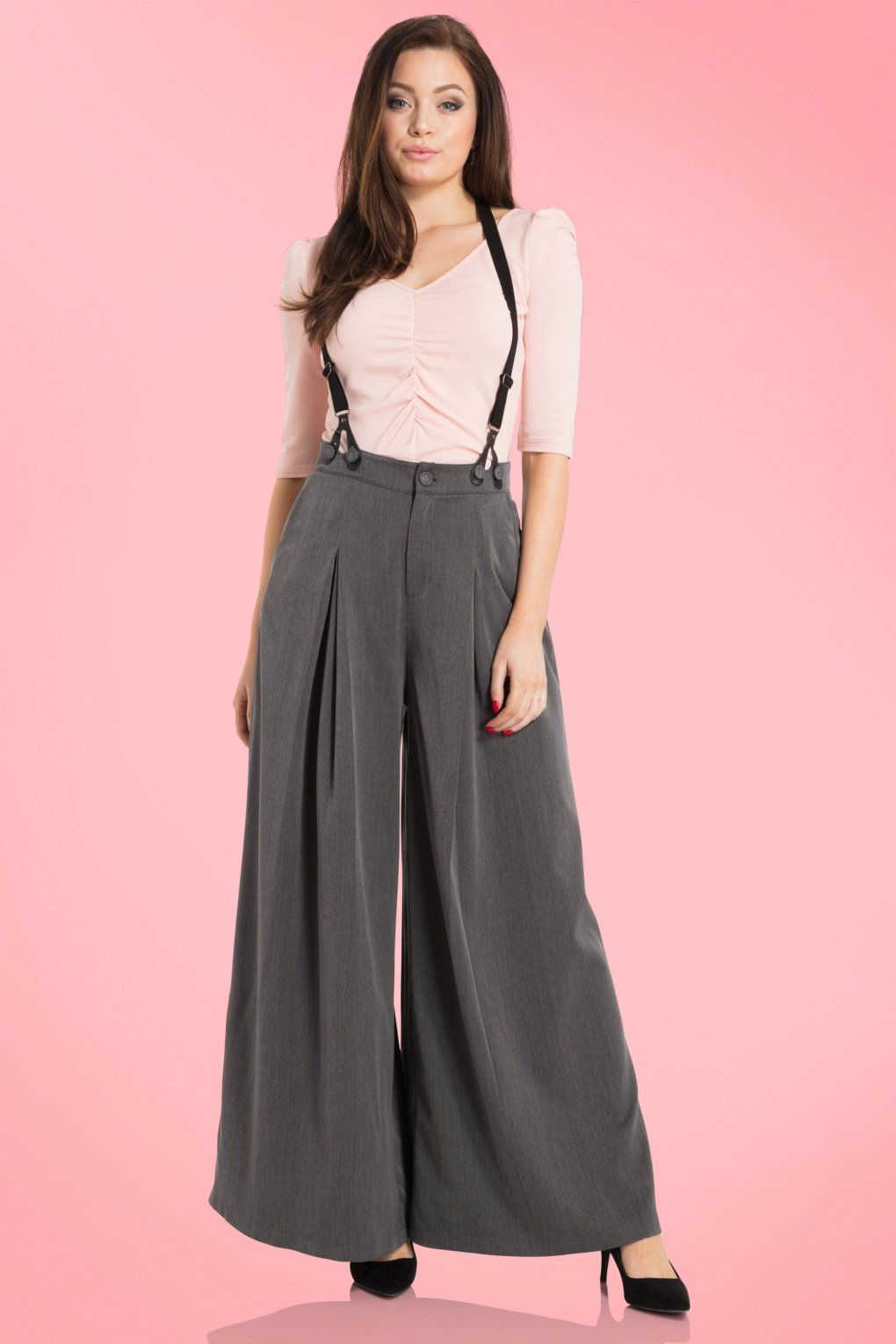89be1dc16a7a 1940s Style Pants   Overalls- Wide Leg