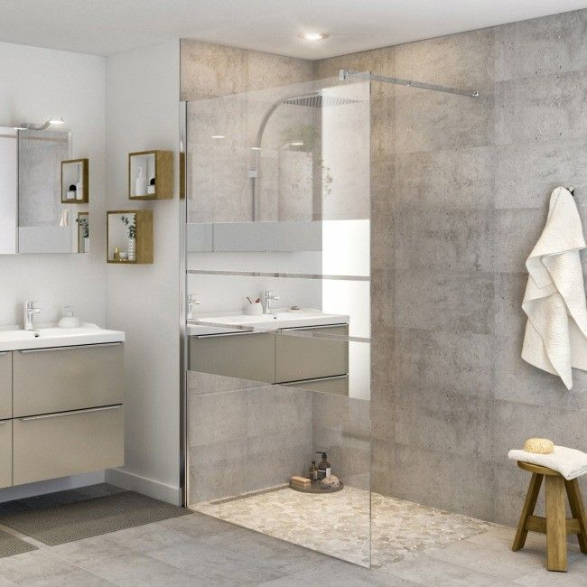 Kabina Prysznicowa Walk In Cooke Lewis Beloya 120 Cm Chrom Szklo Lustrzane Scianki I Drz Contemporary Bathroom Designs Contemporary Bathrooms Bathroom Design