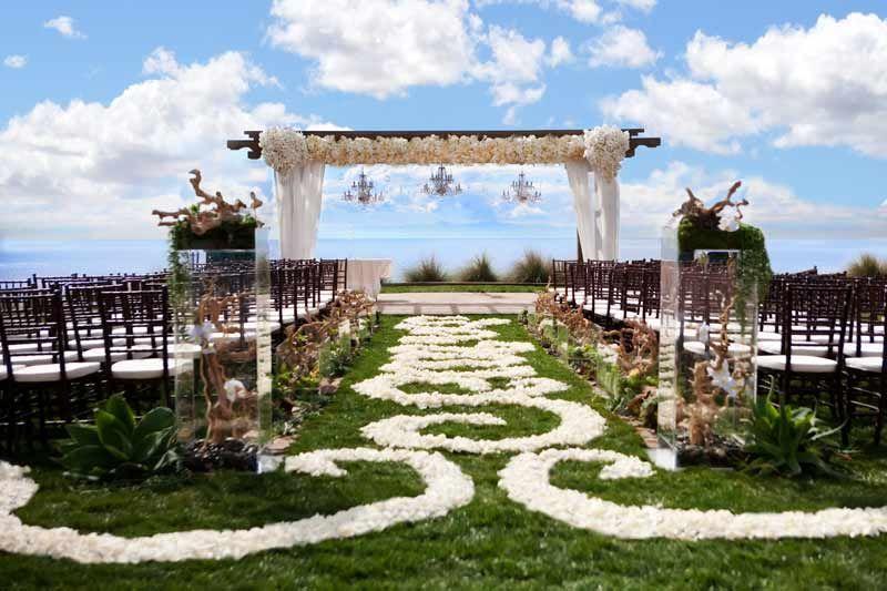 catalina point ceremony a terranea resort wedding in southern california los angeles rancho palos verdes