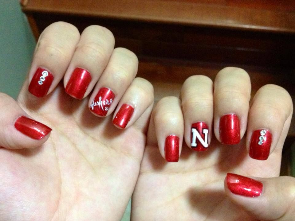 Nebraska Husker Nails | Nails | Pinterest | Mani pedi, Pedi and Makeup