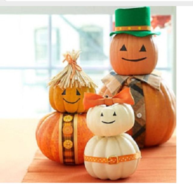 Crafts pumpkins costumes halloween family kids Costumes ♥ Make up - easy halloween pumpkin ideas