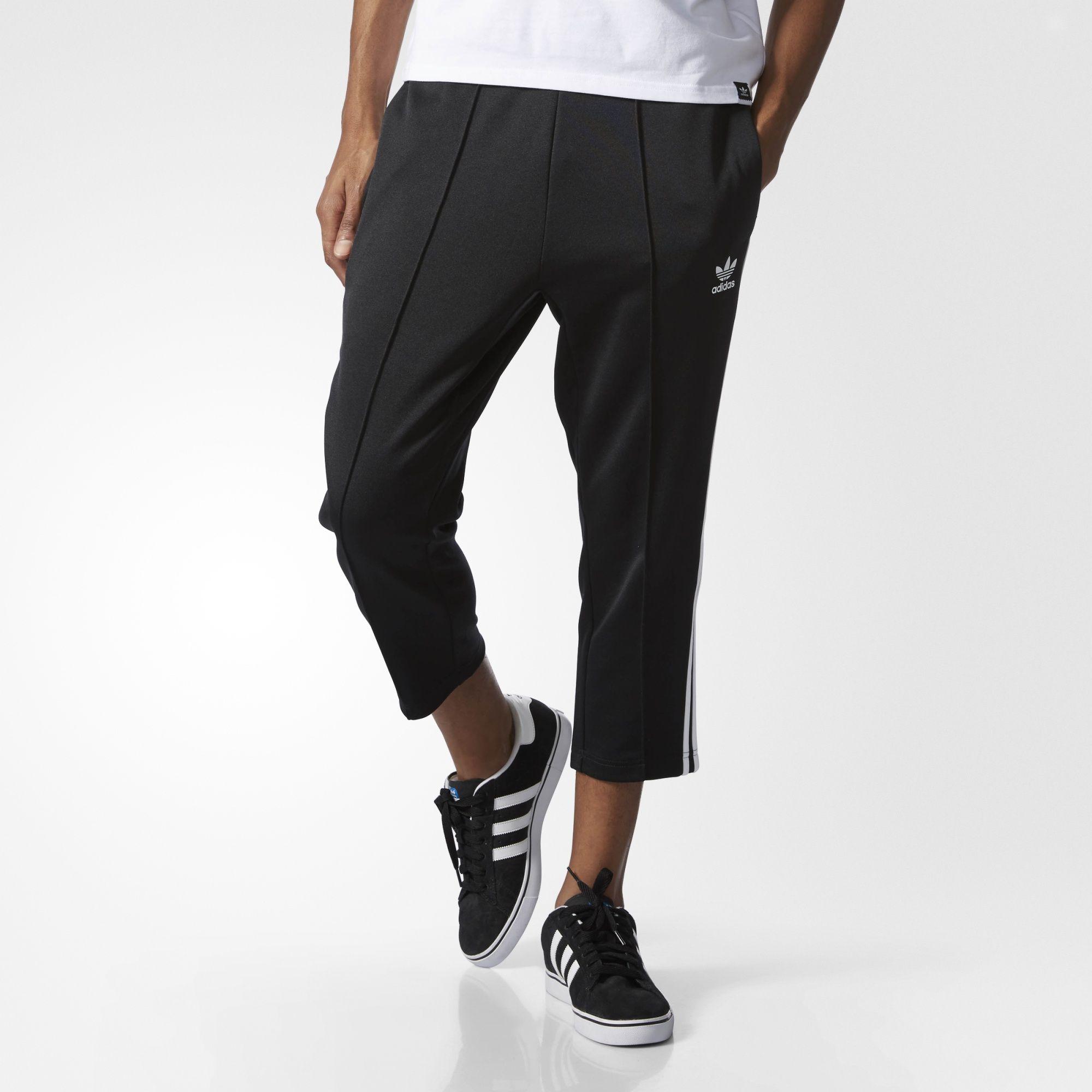 Black Cropped Track Pants   adidas US