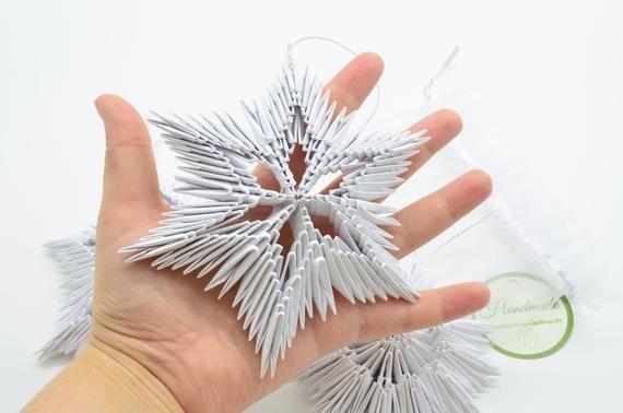 Photo of Artikel ähnlich wie Set von 3 Origami-Schneeflocken – 3D-Origami, modularer Origami – Weihnachts-Origami-Geschenke auf Etsy