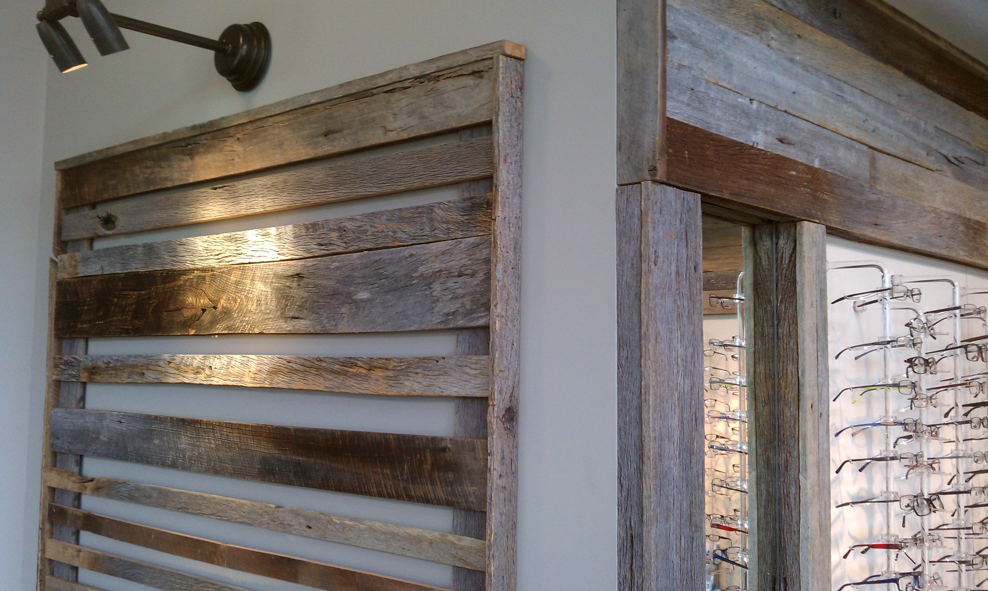 Barn Board Used For Optical Display At Stapleton Family