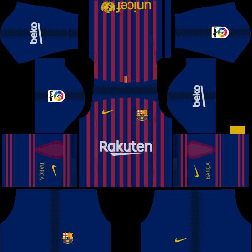a4a8e34e6 F.C. Barcelona Nike Kits 2018 -19 For Dream League Soccer 2019 ...