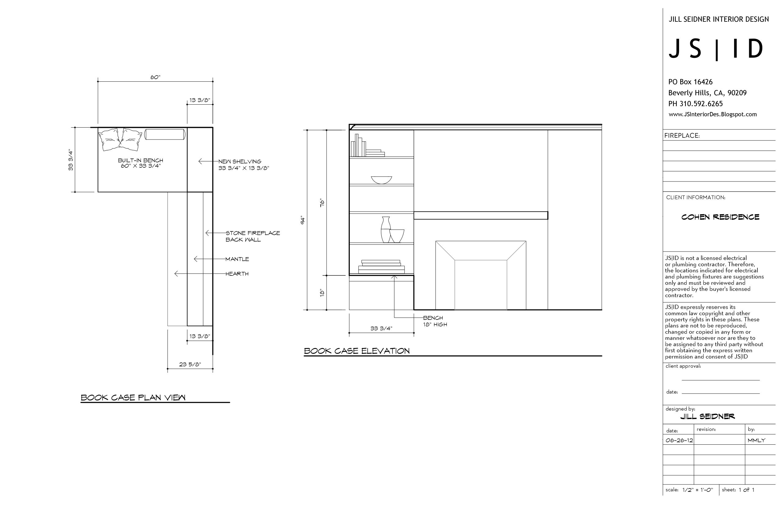 Santa Monica Ca Residence Living Room Built In Shelving