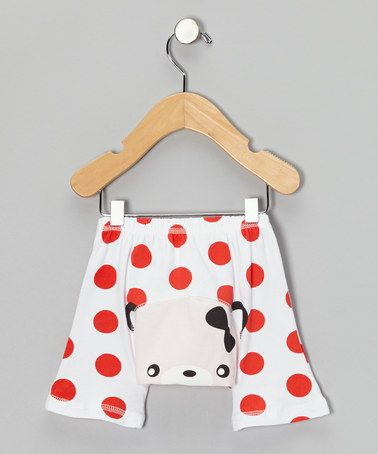Take a look at this Red Polka Dot Cat Shorts - Infant by KAZOO on #zulily today!