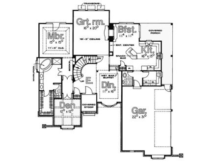 Old English Tudor House Plans Sml Country Plan Front Home And More