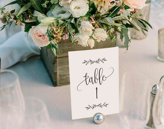 This listing is for a high resolution wedding table numbers PDF