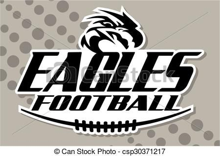 vector eagles football stock illustration royalty free
