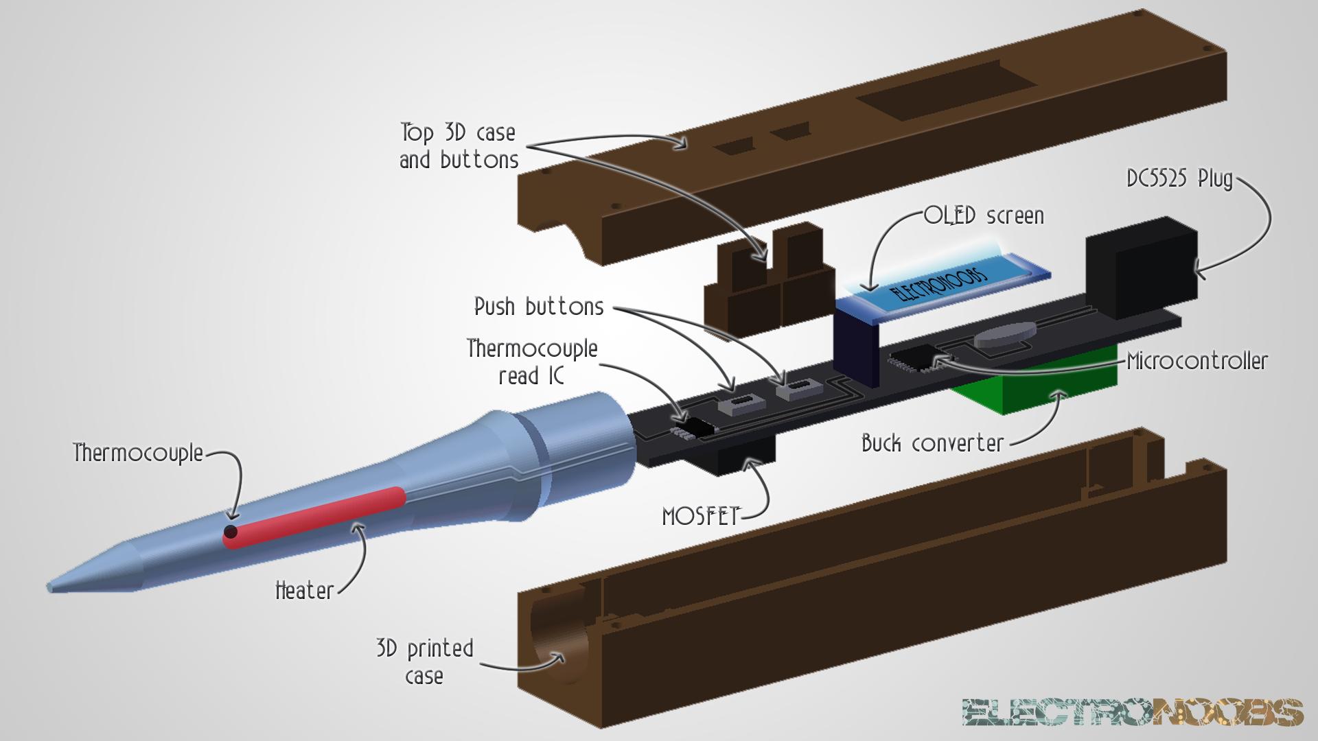 Diy Soldering Iron Homemade Arduino Soldering Soldering Iron Microcontrollers