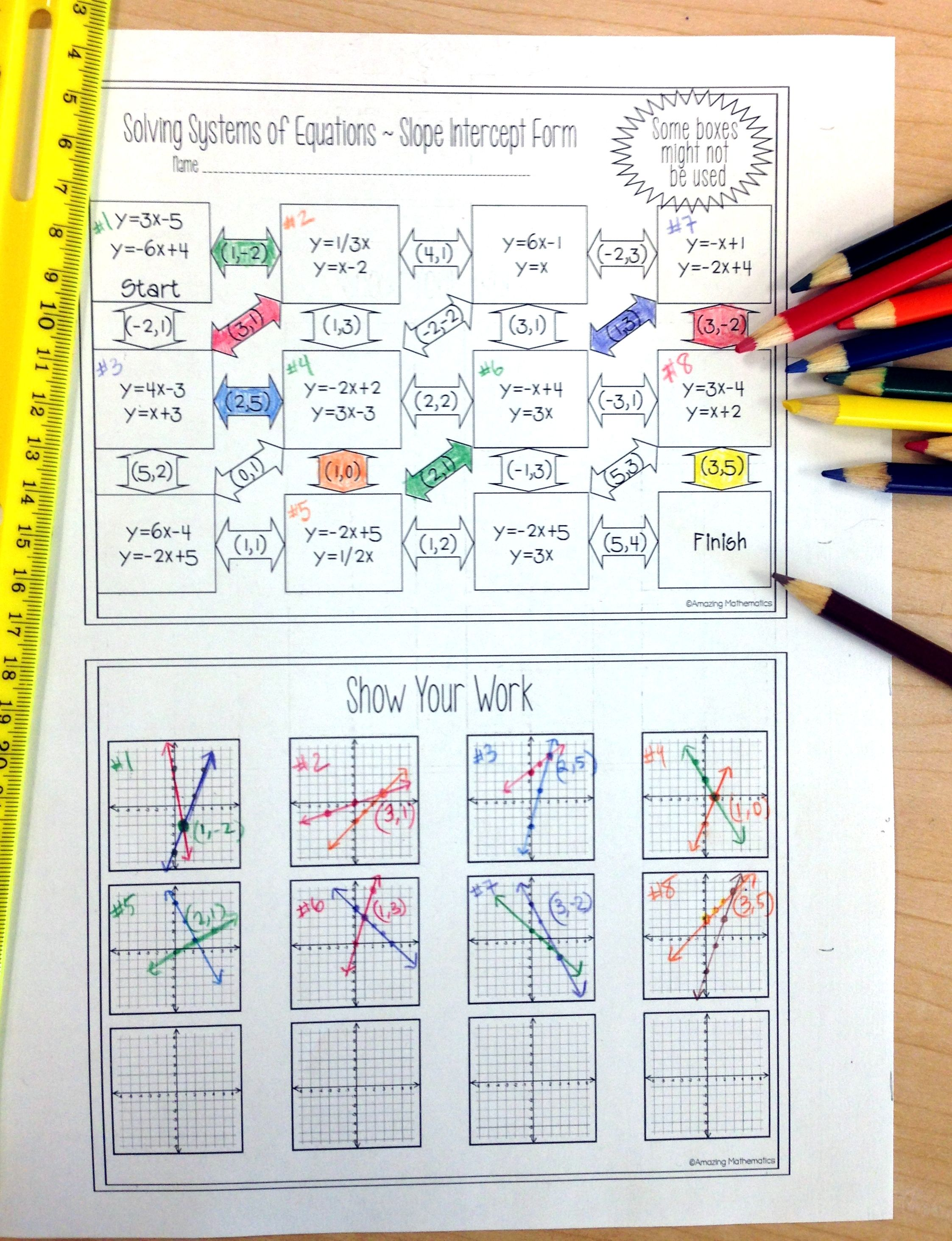 small resolution of This Systems Maze was PERFECT for my Algebra students! This worksheet was  an engaging activity that allowed my …   Systems of equations