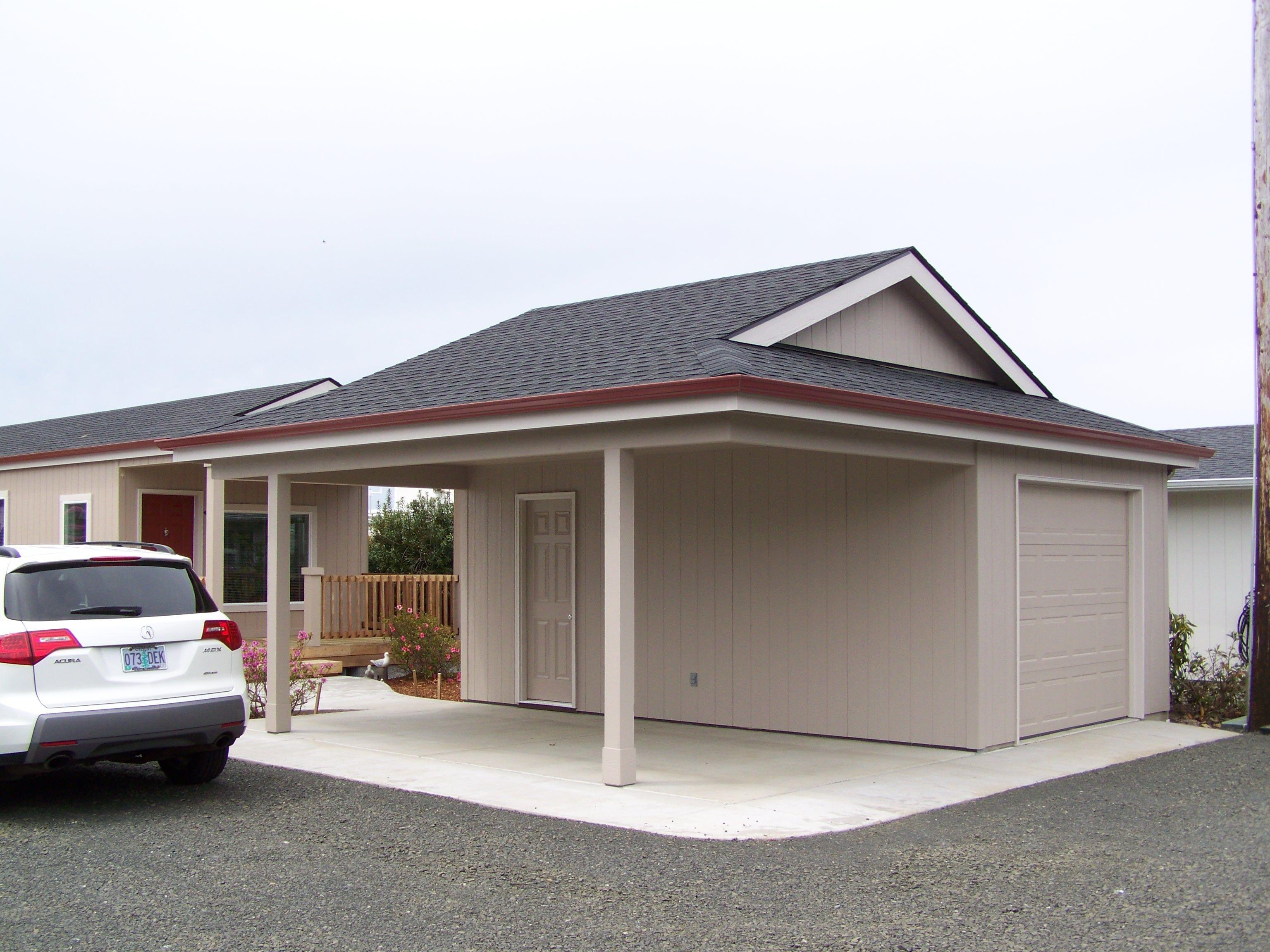 a garport half garage half carport get more. Black Bedroom Furniture Sets. Home Design Ideas