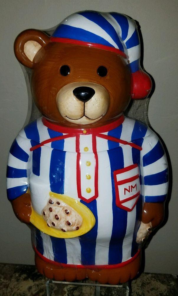 1997 Vintage Neiman Marcus Cookie Jar Teddy Bear Nostalgic Collectible, Keepsake