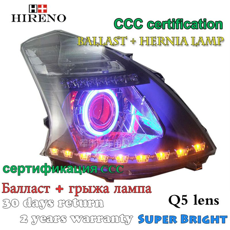 Hireno Modified Headlamp For Great Wall Florid 2008 2009 Headlight Assembly Car Styling Angel Lens Beam Hid Xenon 2 Pcs Hid Xenon Car Lights Headlight Assembly