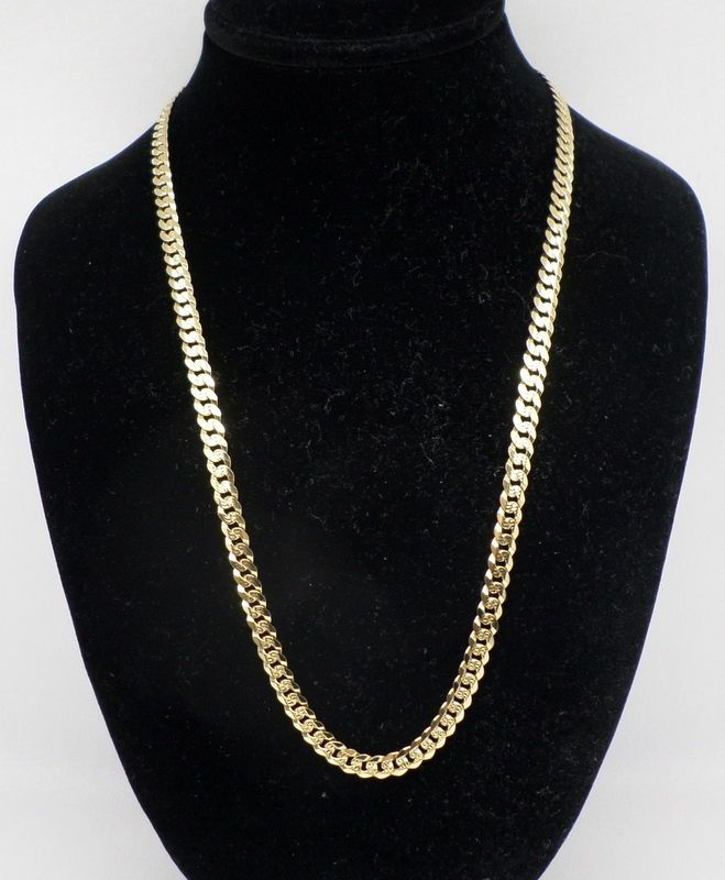 fc459f9ac ITALIAN Men's 14K YELLOW GOLD Cuban Link CHAIN, 15.7 grams, 18
