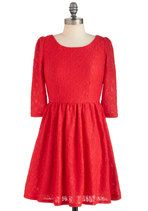 Red-volution in Lace Dress