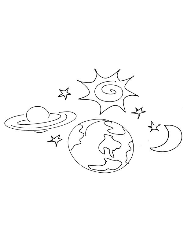 God Created The Earth Coloring Pages Earth Coloring Pages