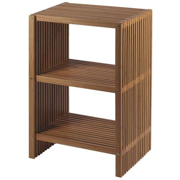 Dieses Badregal von NOVEL vereint natürliches Design mit Spitzenqualität. Der Korpus des Regals ist aus hochwertigem Bambusholz gefertigt. So erhalten Sie ein Möbelstück, das den asiatischen Einrichtungsstil verkörpert.