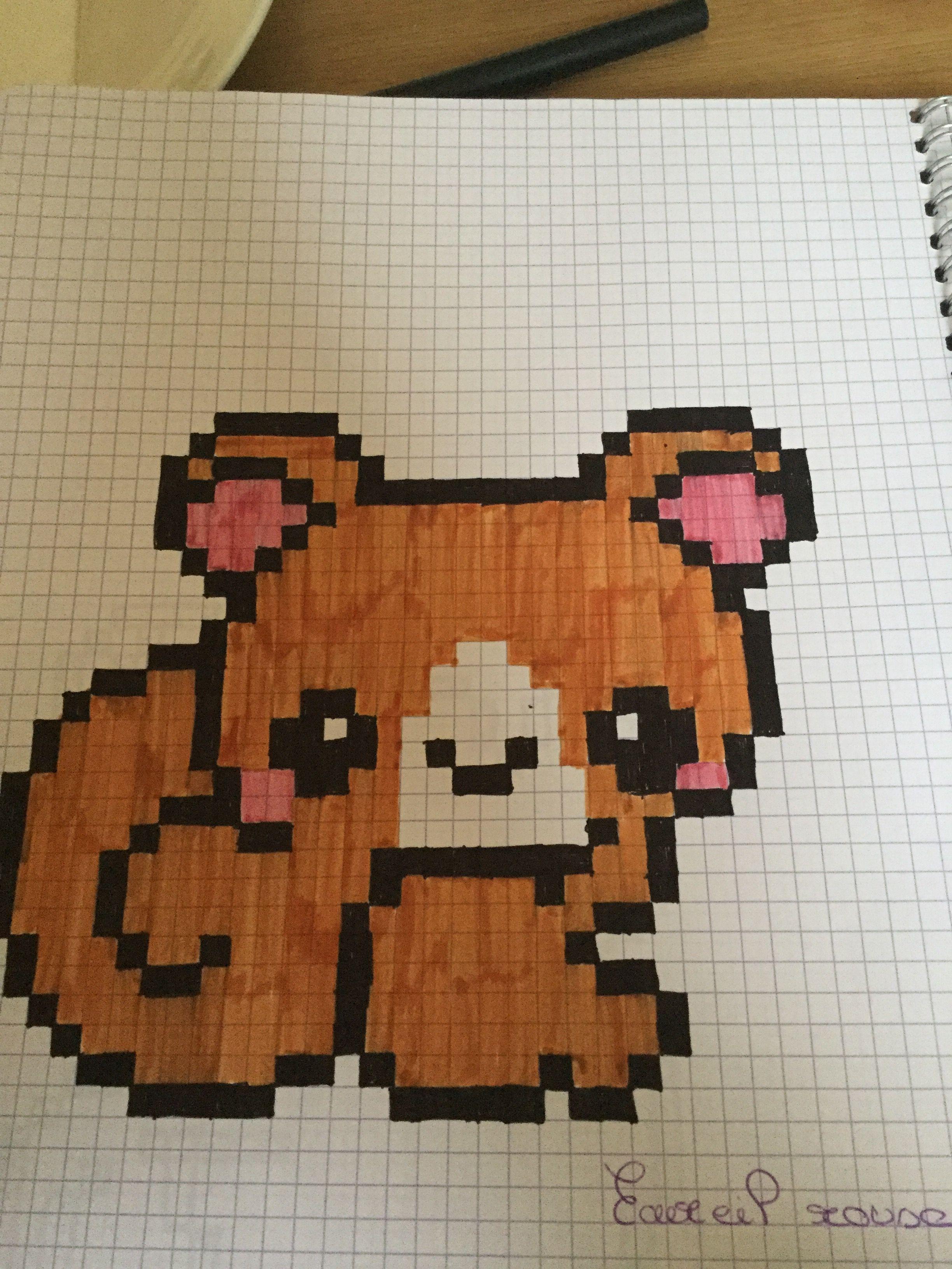écureuil Roux Dessin Pixel écureuil Roux Et Dessin