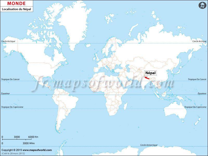 Où est le #Népal | Pays: Carte de localisation | Pinterest | Nepal