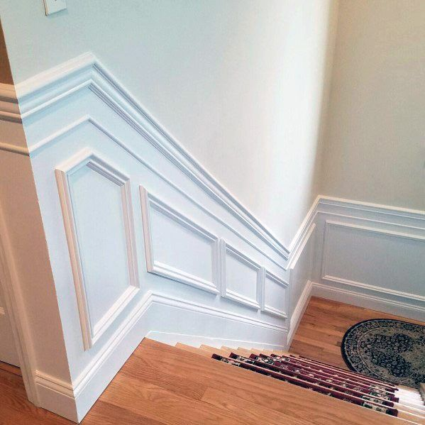 Top 70 Best Painted Stairs Ideas: Top 70 Best Chair Rail Ideas