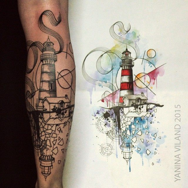 Skin deep tales tattoos piercings gallery pinterest - Tattoo leuchtturm ...