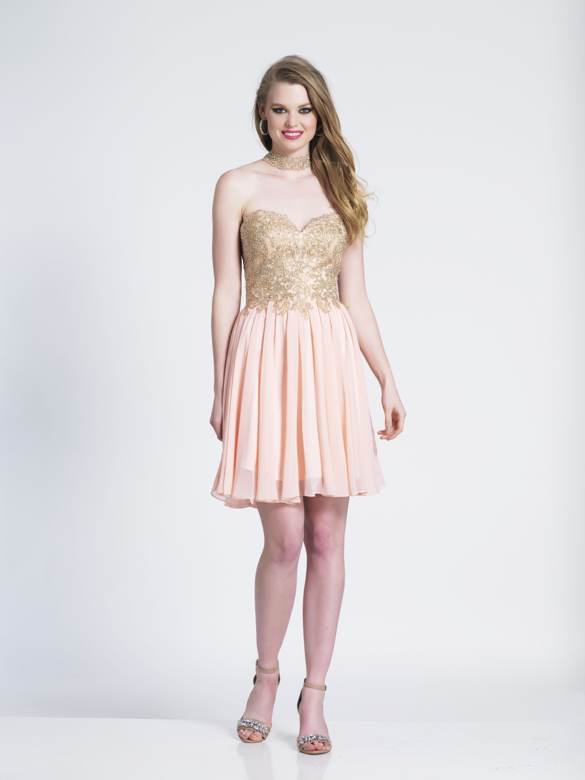 Embellished sweetheart racer back homecoming dress by dave and