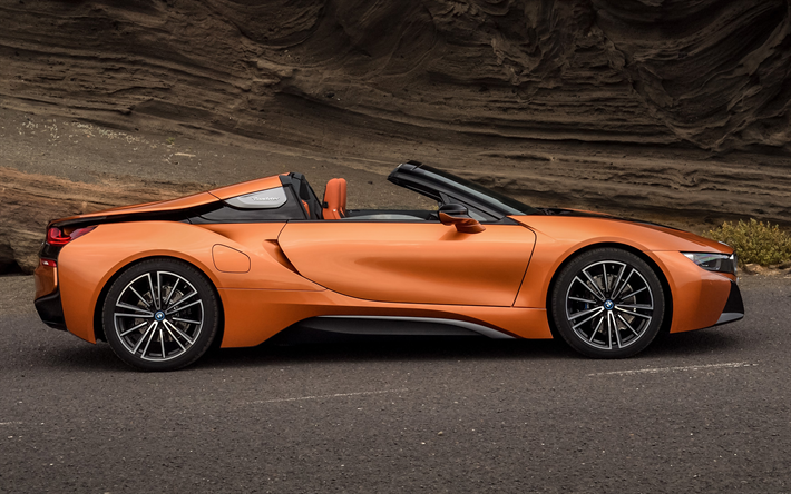 Download wallpapers BMW i8 Roadster, 2019, sports electric