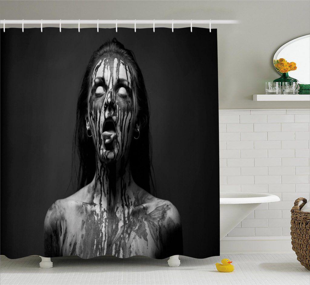 Screaming Woman Shower Curtain Curtains Curtain Store Horror