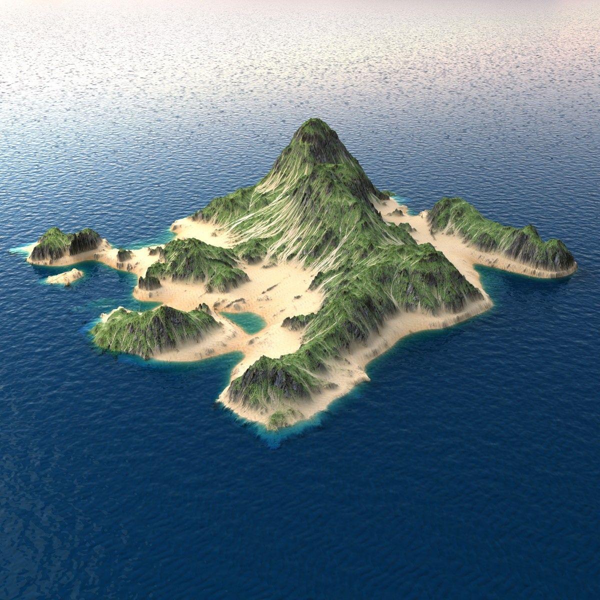 Realistic Tropical Island 3d Tropical Islands Island Art Island