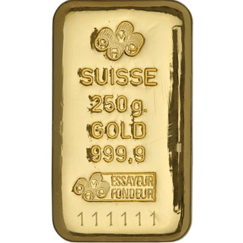 250 Gram Pamp Suisse Gold Bar New Cast W Assay Gold Bullion Bars Gold Bar Buying Gold