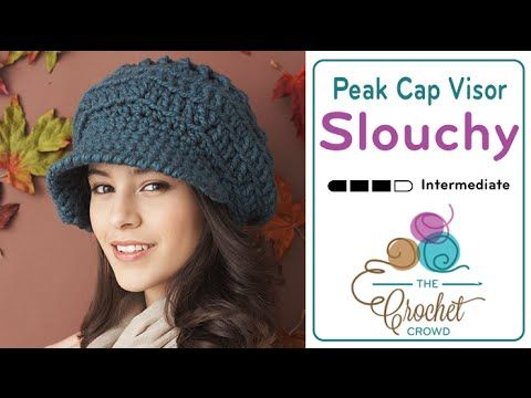 Crochet this trendy Slouchy Peak Hat using Bernat Softee Chunky Yarn. Full and bulky yarns are currently the trend. Combined with the trend of slouchies and ...