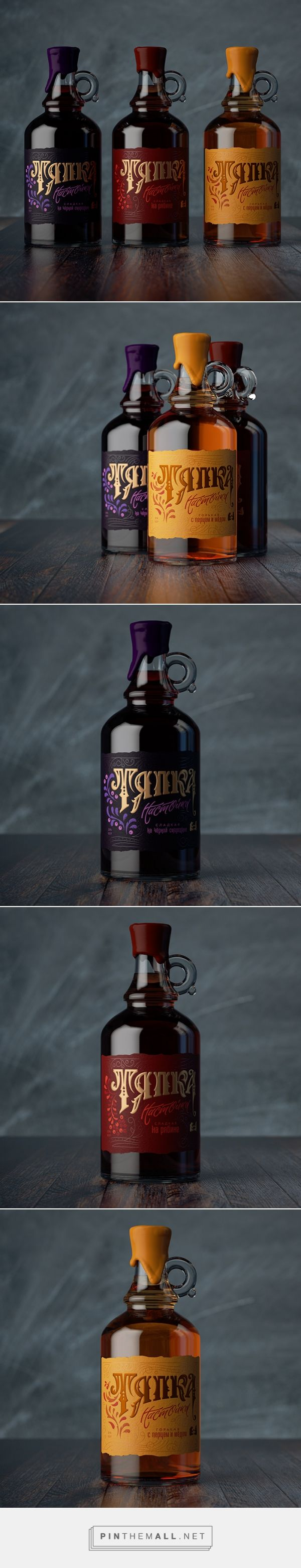 """Liquor """"Tyapka"""" by Gizmostudio. Source: Daily Package Design Inspiration. Pin curated by #SFields99 #packaging #design"""