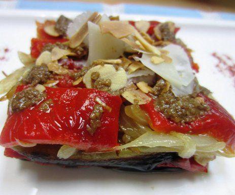 Reto recetas sanas, milhojas de berenjenas con queso fresco de cabra