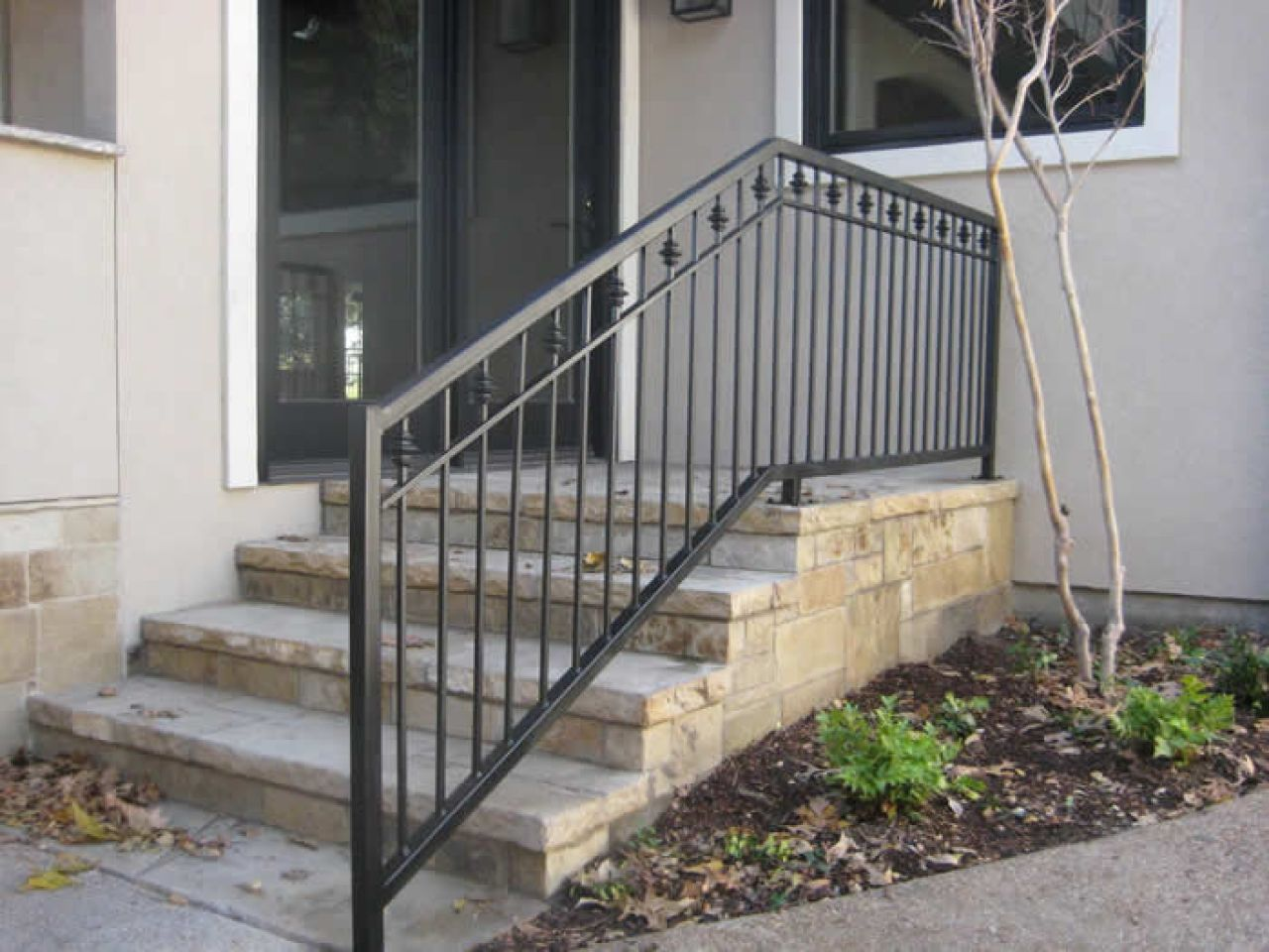 Stairs iron railings for exterior outdoor wrought stair - Metal railings for stairs exterior ...