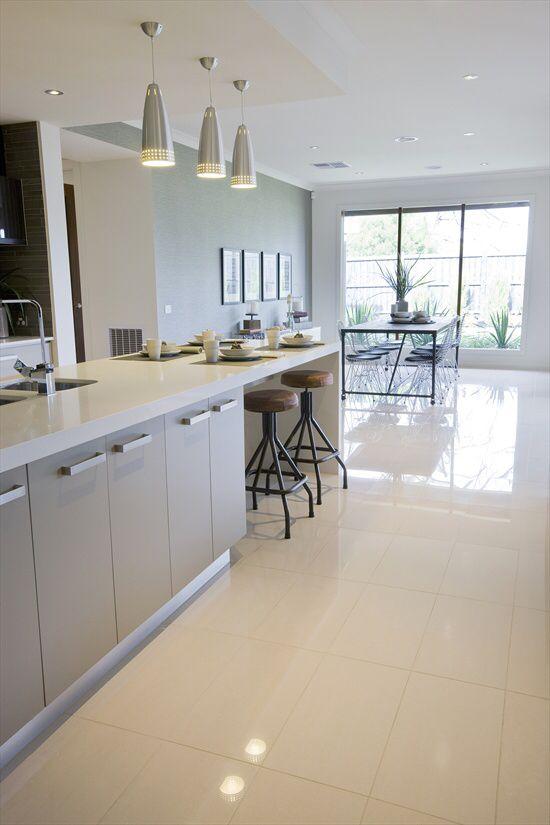 Kitchen Living Room Tiles Trendy Kitchen Tile White Floors Living Room