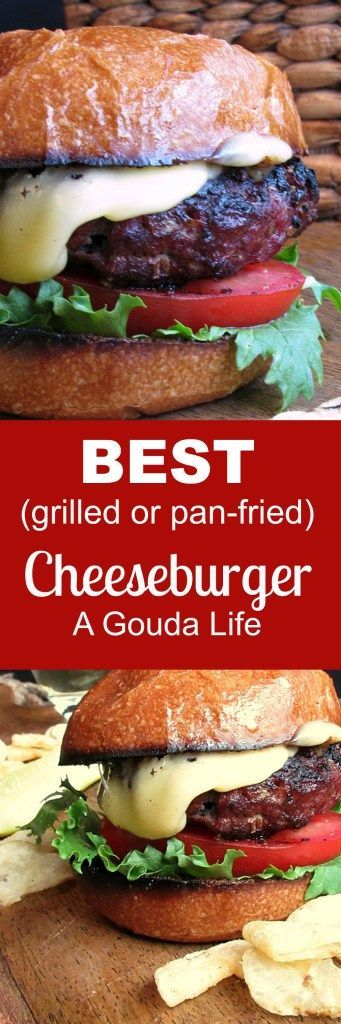 Best Cheeseburger Grilled Or Pan Fried Recipe From A Gouda Life Recipe Best Cheeseburger Recipe Recipes Cheeseburger Recipe