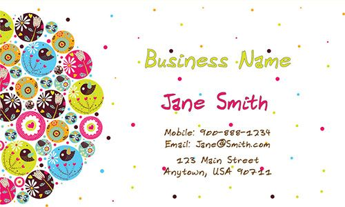 Cool Babysitting Business Card Babysitting Childcare Business Cards