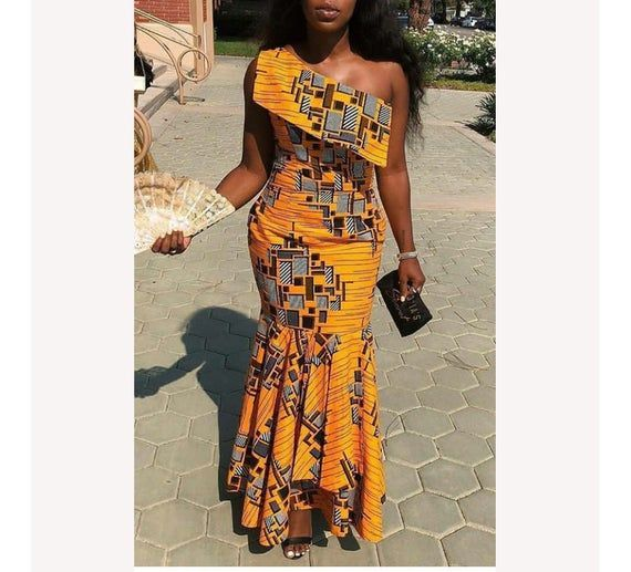 African Monostrap dress /African dress/african clothing for ... African Fashion trends #afrikanischeskleid
